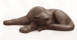 Black panther, artificial stone, 39 cm, 1985