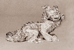 China dragon, glazed terra-cotta, 20 cm, 1973