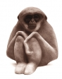Gibbon monkey, artificial stone, 25 cm, 1974