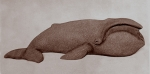 Greenland right whale, artificial stone, 53 cm, 1986