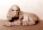 Cocker puppy, terra-cotta, 20 cm, 1972