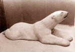 Polar bear large, artificial stone, 165 cm, 1982