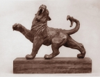 Mythologic lion, tin, 14 cm, 1985