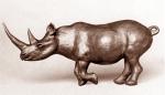 Black rhino, terra-cotta, 27 cm, 1974